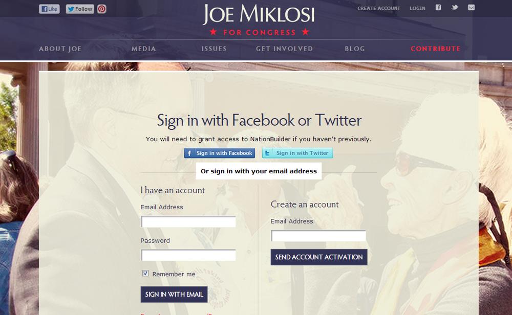 Best Congressional Campaign Website