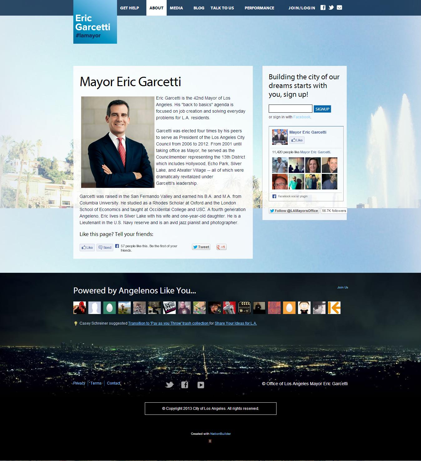mayor-political-website