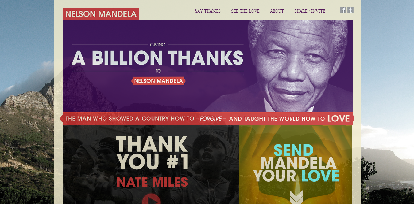 A Billion Thanks Mandela