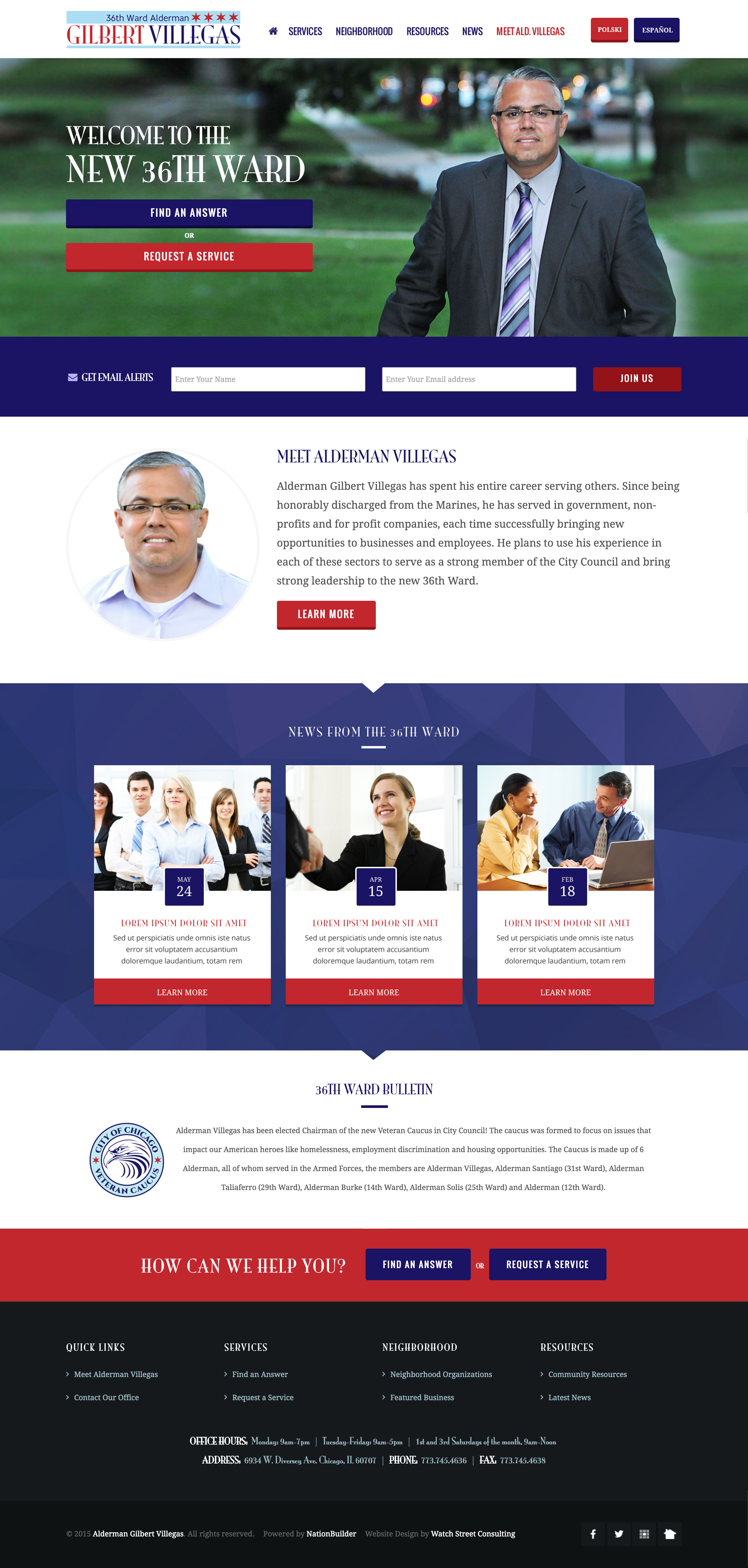 alderman gil villegas government website design