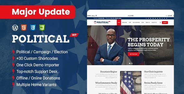 PoliticalWP - Multipurpose Campaign, Election WordPress
