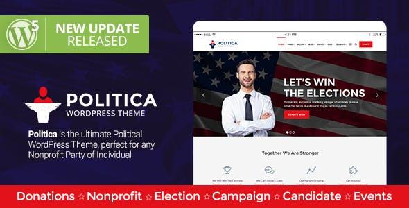 Politica - A Modern Political Party & Candidate WordPress Theme