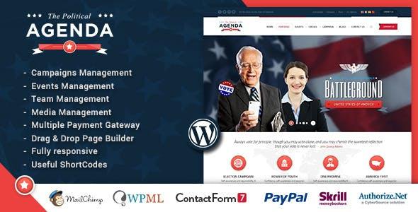 Agenda | Political Responsive WordPress theme