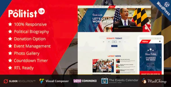 Politist - Political WordPress Theme for Parties, Candidates, & Campaigns